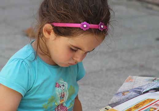 Actividad libre de lectura en inglés en casal de verano